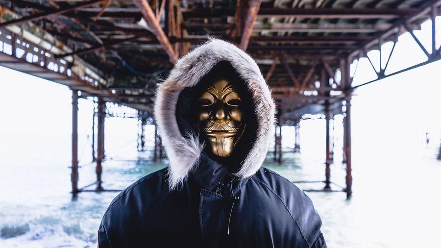 Sony Sonyalpha Anonymous Pier Canadagoose Headshot Spooky Halloween Winter Portrait Fun