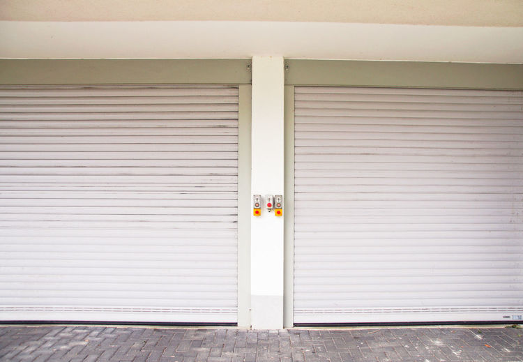 Closed Shutters Of Garage