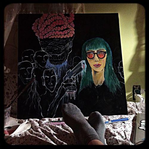 Painting Acrylic Sowlo