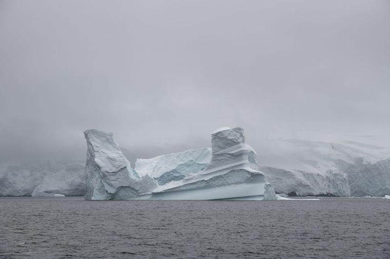 Iceberg in the gerlache strait, the antarctic.