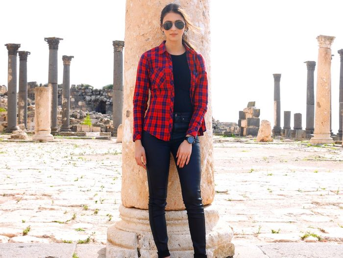 City of Umm Qais Jordan Ancient Middleeast Over A Thousand Steps Ancient Ruins Outside Photography Oldwithnew Red Model UmmQais EyeEm Nature Lover EyeEm Gallery EyeEm Modelgirl Fashion Fashion Photography Outfit #OOTD