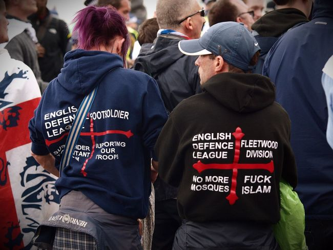 English Defence League and Britain First far right protesters, 01-04-2017. London. Uk. London News Zuiko Stevesevilempire Olympus Steve Merrick Protesters Protest London EDL English Defence League Skunks Racism Racist Right Wing Uk