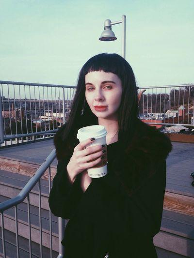 Ani. Starbucks Model Film Look Bangs Vscocam Rooftop City RVA