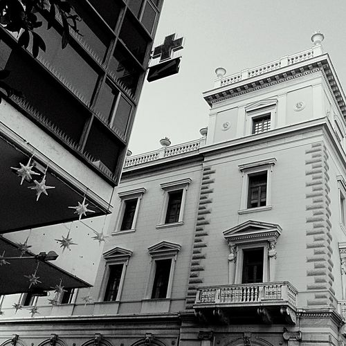 1. City Moments End of Christmastime still some Christmas Decorations Stars by the Glassy Building Love the Neoclassical one💜 Urbanphotography Urbanography Urban Landscape Cityscape City Center Free Theme for Bnw_friday_eyeemchallenge City Life Athens