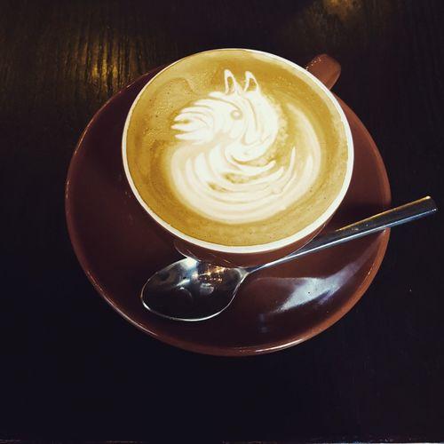 Llama coffee Coffeeart Gingersaltedcaramelflatwhite Flatwhite Foamart Foodporn Caffeineaddict Caffeine Llama