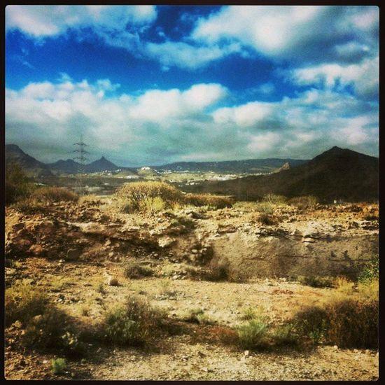 Volcanic landscape of teneriffe Volcano Islands Canaries BeautifulIsland holidaylandscapebarren
