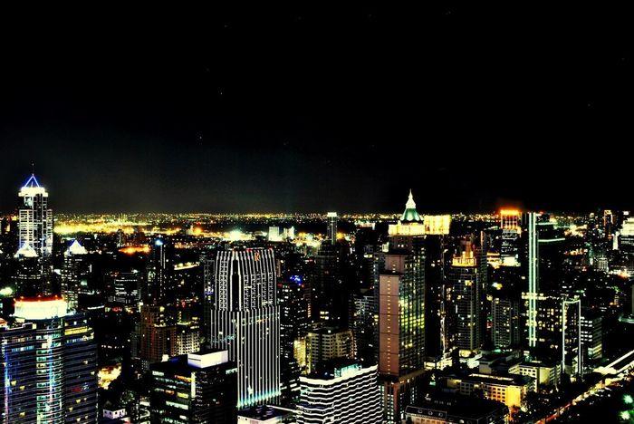 City Beautiful Night Lights Dinner And Drinks