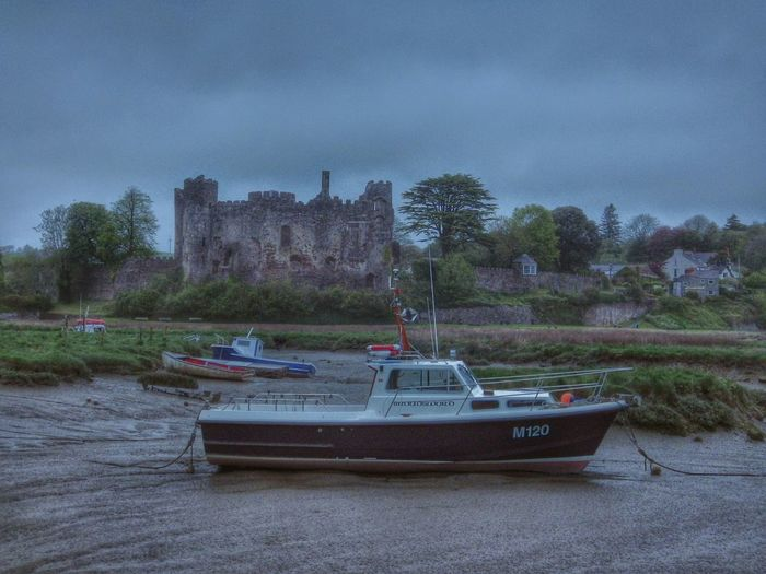 Wales Castle Boat Twilight Landscape Mudflat Taking Photos Photography Walking Around Check This Out