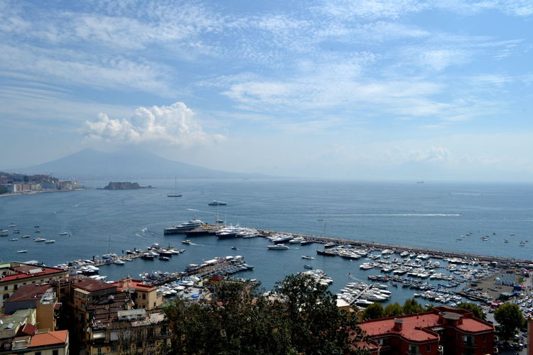 Sea Water Building Exterior Architecture Built Structure Sky High Angle View Nature City Nautical Vessel Cloud - Sky Horizon Over Water Day Scenics - Nature Horizon Beauty In Nature No People Residential District Transportation Outdoors Cityscape TOWNSCAPE Naples Vesuvio Campania