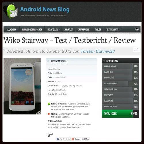 Wiko Stairway - Test / Testbericht / Review jetzt Online auf http://www.android-news-blog.de/Reviews-detail/wiko-stairway-test-testbericht-review/ WikoStairway Wiko Stairway Review