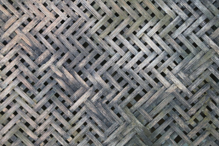 Pattern Backgrounds Full Frame Textured  No People Repetition Design Metal Indoors  Day High Angle View Close-up Flooring Wicker Shape Sheet Metal Side By Side Wood - Material Art And Craft Crisscross Textured Effect