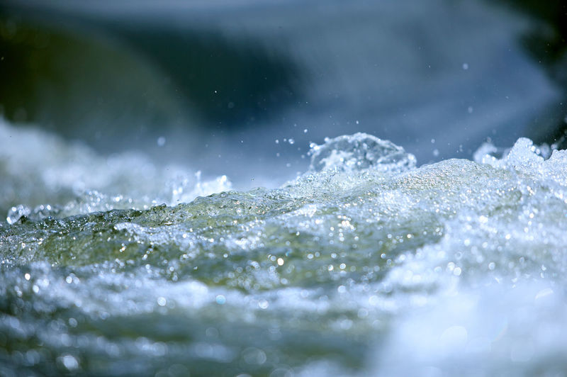 Close-up of water splashing