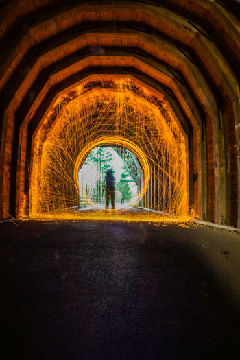 Longexposurephotography Wooden Tunnel Steel Wool The Great Outdoors Hanging Out Taking Photos Check This Out Enjoying Life Light Up Your Life Photography In Motion