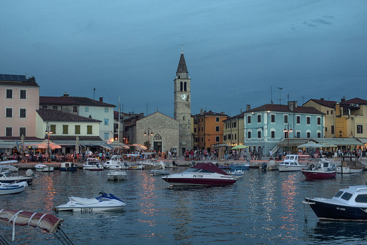 Blue Hour Croatia Adriatic Coast Architecture Building Building Exterior Built Structure Canal City Croatian Town Fazana Mode Of Transportation Nautical Vessel Outdoors Passenger Craft Place Of Worship Religion Sailboat Sky Sunset Transportation Travel Travel Destinations Water Waterfront Capture Tomorrow