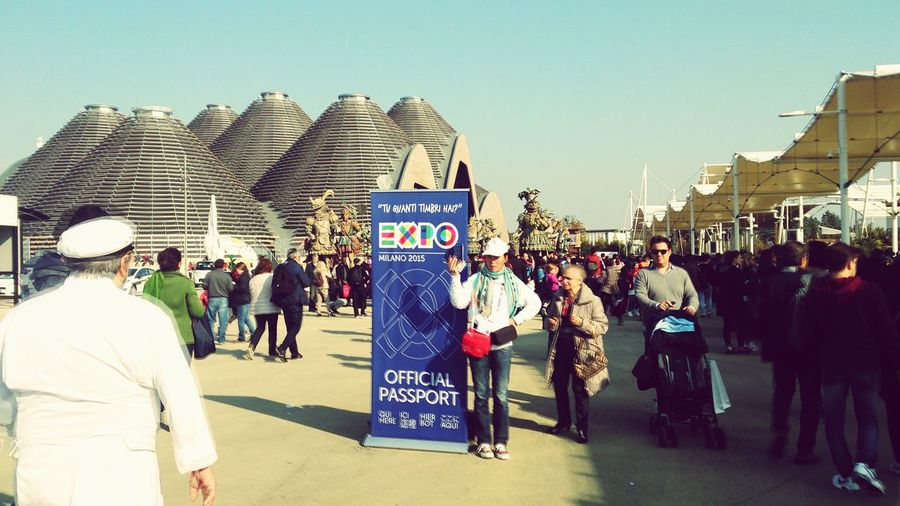expo milano first day Large Group Of People Full Length People Adult Outdoors Sky Day Crowd Adults Only Expo2015 Food And Drink