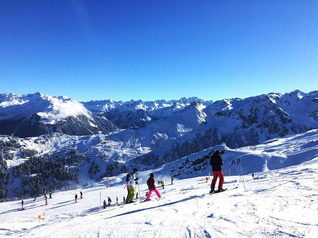 Snow Winter Mountain Snowcapped Mountain Sport Winter Sport Cold Temperature Ski Holiday Outdoors Blue Sunlight Landscape Skiing Adventure People Scenics Sky Enjoying The View Light And Shadow Enjoying Life Taking Photos Skiing Beauty In Nature Montafon Nature Your Ticket To Europe
