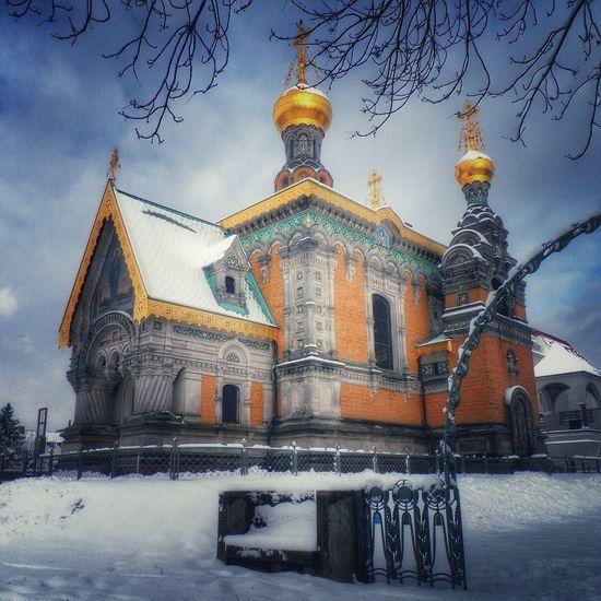 Darmstadt Russian Chapel Mathildenhöhe Künstlerkolonie Winter Snow ❄