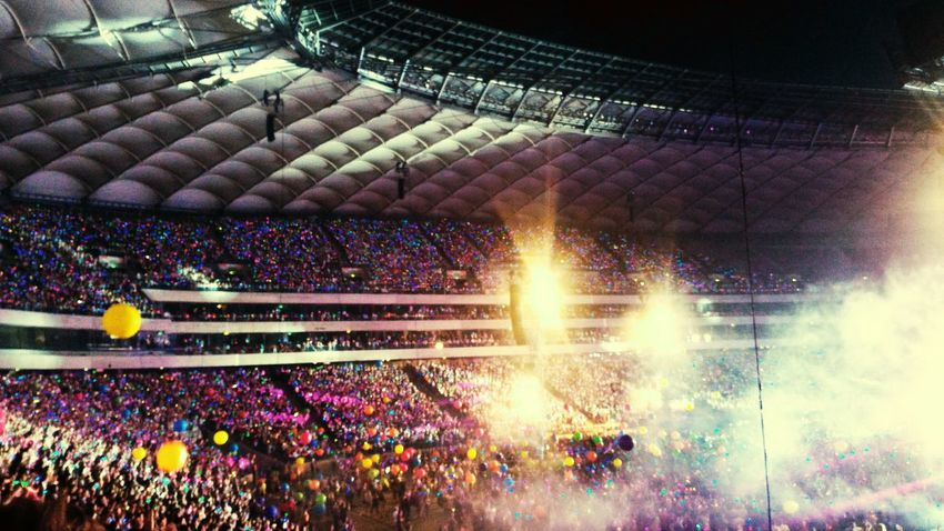 Coldplay Concert  Coldplayer ColdplayFanArt Warsaw Poland Warsaw Stadium Narodowy