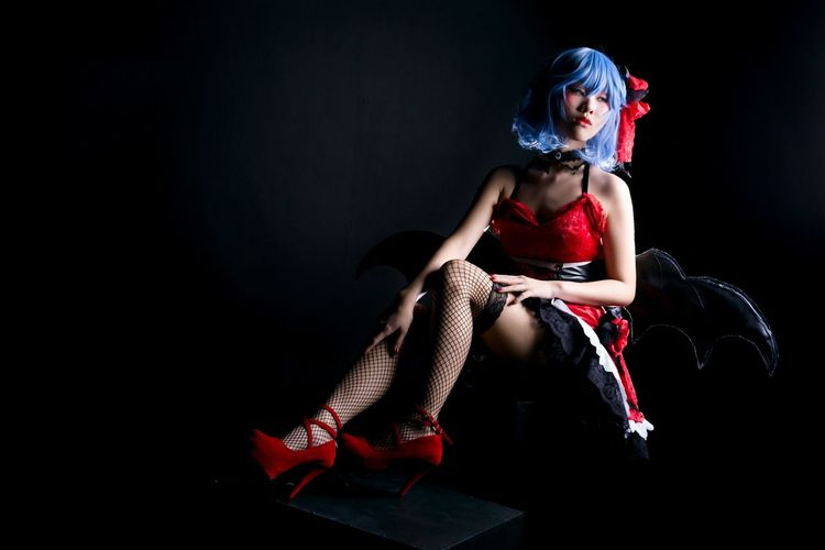 Remilia Scarlet Remilia Scarlet Touhou Project Red One Woman Only One Person People Portrait Girl Fashion Model Females Black Background Studio Shot Asdgraphy Vampire Photoshoot Sonyphotography Sony Sony A6000 Sonyimages Flash Indoor Strobe Cosplay Malaysia Photography