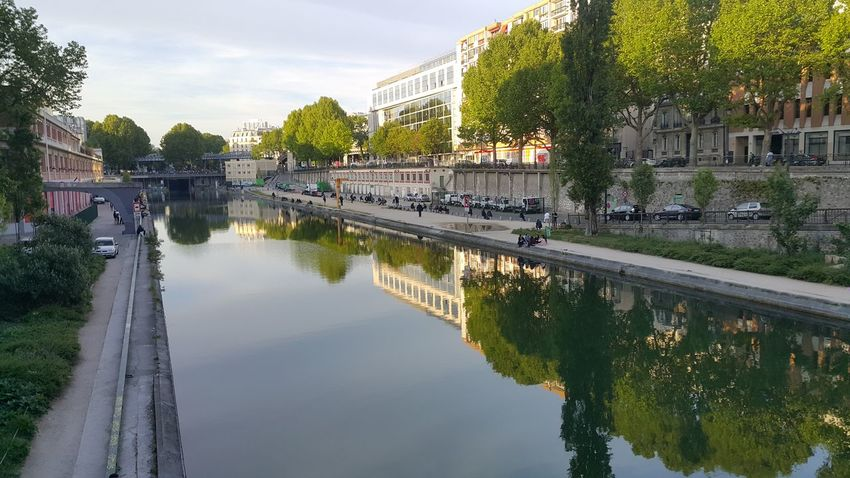 paris Water Reflection Built Structure Tree Outdoors Architecture Building Exterior Reflecting Pool Sky Day No People Watermill City