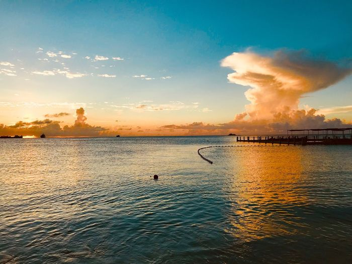 Saipan Sunset Fiesta Resort Saipan Sky Sea No People Sunset First Eyeem Photo