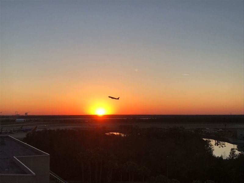 Sunrise takeoff at OIA Sky Flying Sun Silhouette Airplane No People Sunrise Airport Takeoff ✈ Vacation