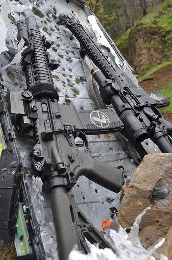 Gun Gun Range Having Fun Leupold Rain Rainy Days Range Rifle Shooting Weapon