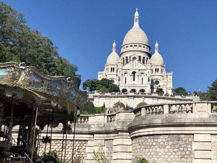 Low angle view of sacre coeur basilica in paris