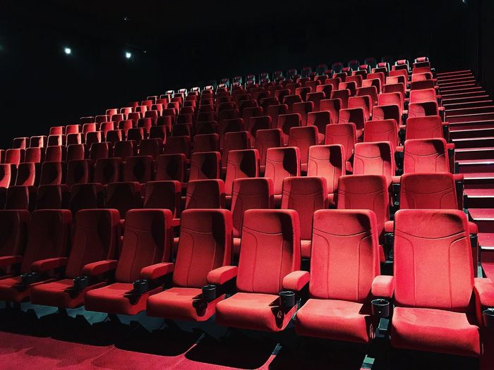 Empty Seats Arranged At Theater