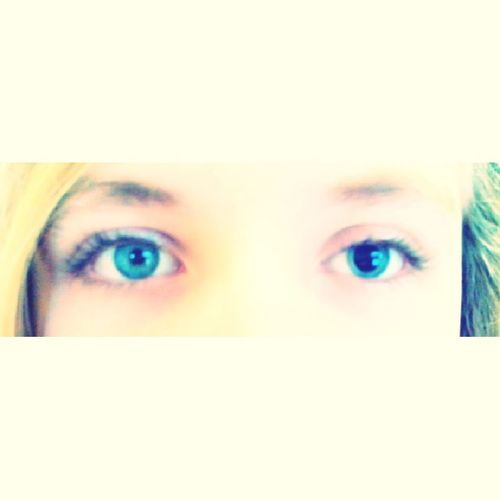 My sisters eyes when we got back from the eye docter Blue Eyes Crazy Weird Eye Docter