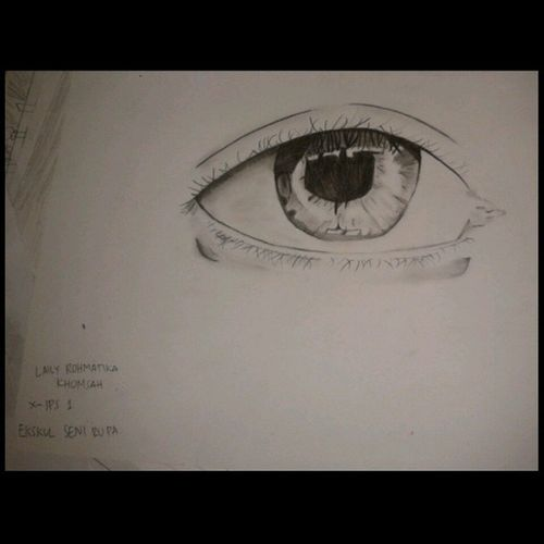 made by me ♥ love this one so much!! XD Sketch Eye Beautiful Pretty art likeforlike