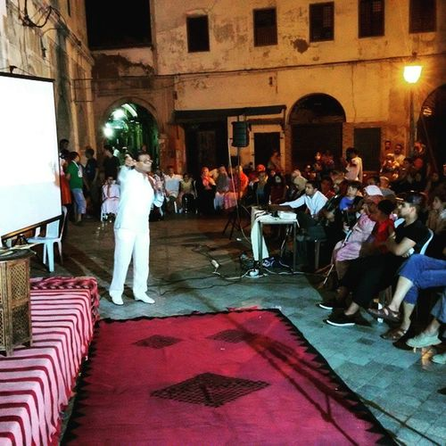 Tunisia IgersTunisia Ramadan  in Tunis ' Medina History Carthagina قرطاجينة أحكيلي Story_telling Leisure هنا تونس ... و يحلو السمر :)