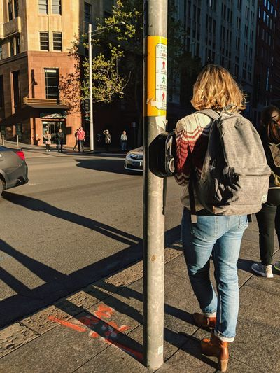 """""""I found the momentary rest I needed within that one simple breath"""" Street Photography People Watching My Daily Commute City Full Length Women Road Sunlight Architecture Building Exterior Built Structure Pedestrian Road Intersection City Street"""