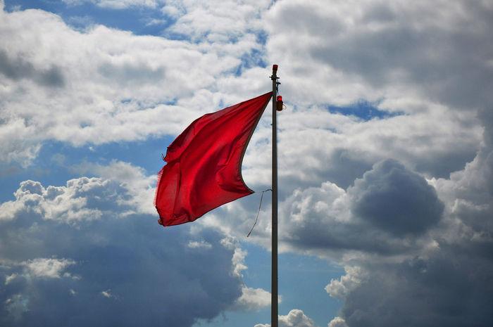 Red Flag Danger Danger Sign Flag Guidance Red Flag Red Flag Warning RISK Sky