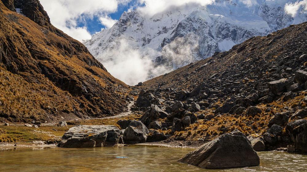 Salkantay Trail in Peru. Ancient Inca Nature Peru Peru Traveling Travel Cuzco Mountains Mountains And Sky Moutains Peruvian South America Travel Destinations