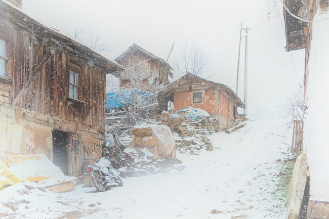 Snowy Village Life Architecture Barn Building Exterior Built Structure Cold Temperature House Nature Outdoors Snowing Snowy Structures Sünnet Sünnetköy Tree Turkey View Village Life Window Winter Wood - Material