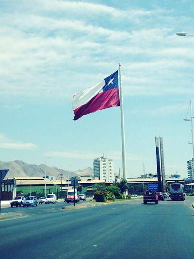 Antofagasta AntofagastaCity Bandera Chile Norte Blancoazulyrojo