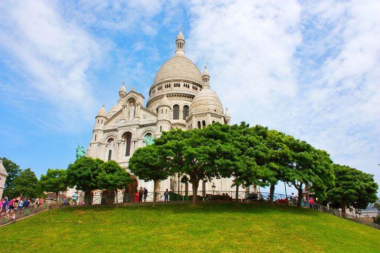 Sacre Coeur Mon Matre Architecture Arch Tree Cloud - Sky Cloud Clouds And Sky