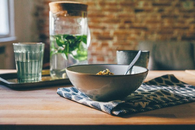 Porridge on table at home