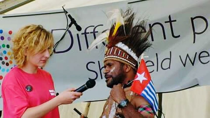 Benny Wenda Two People West Papua People Patriotism West Papua Flag West Papua Politic Of Freedom Papua Free Of Indonesia Colonial West Papua Want To Free Of Indonesia Colonial. Uniform Of West Papua Tradition