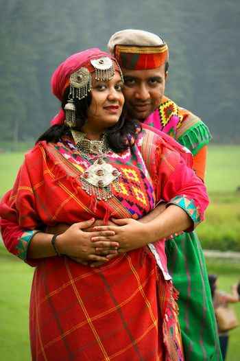 Portrait Of Couple Wearing Traditional Clothing