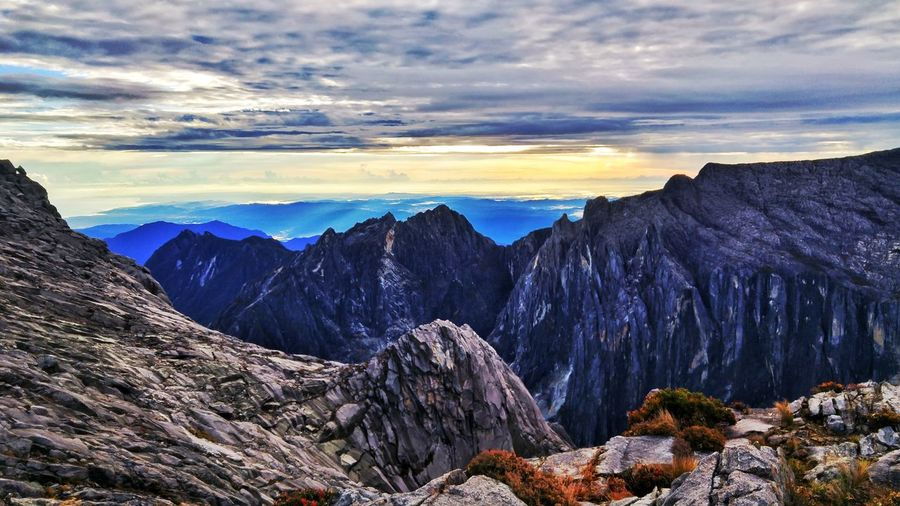 Top of the world mount kinabalu Kinabalu Sabah Malaysia Top Of World Blue Sky Rock Mountain Snow Above Sunset Cold Temperature Tree Cliff Galaxy Mountain Peak Multi Colored Geology Boulder Stone Rugged Arid Landscape Eroded Valley Arid Natural Landmark The Great Outdoors - 2018 EyeEm Awards EyeEmNewHere