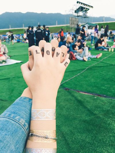 43 Golden Moments Fine Art Photography Music Festival Couple Couples Love Couple's Hands Tattoo Tattoos Couple Tattoo