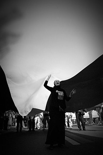 Palestine Protest Freegaza Womenpower Blackandwhite Blackabdwhitephotography Portrait Streetphotography The Portraitist - 2016 EyeEm Awards Girl Power