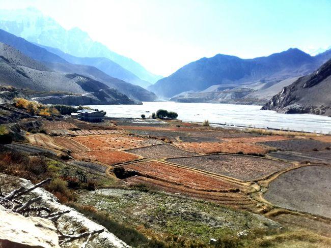 Landscape Mountain Range Scenics Day Jomsom Nepal