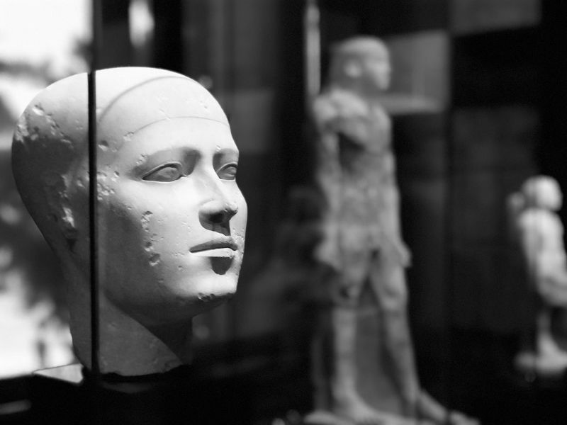 Portrait Of A Woman Blackandwhite Photography Human Representation Female Likeness Ancient Civilization Black And White Portrait Egyptian Sculpture Portrait Photography Vienna Museum Grace Egyptian Art Female Beauty Female Portraits