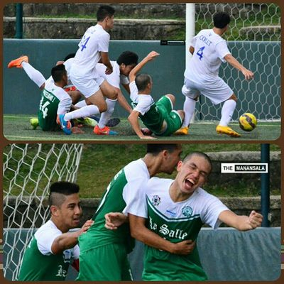 An equalizer for La Salle courtesy of @yoshikoizumi6 at 74' 🎆⚽ . . . UAAP Uaap77 Uaapseason77 ADMUvsDLSU ateneo lasalle sbspotlight soccerbible seniors football themanansala