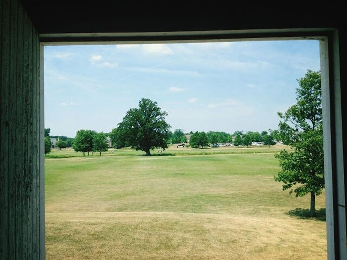 The doorway to God's green earth... The Grass Is Green Golfing Check This Out Taking Photos