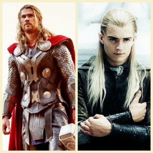Because the last time I was this fangirl crazy was with Legolas in the Fellowship of the Ring. Hahaha Thor  ChrisHemsworth Orlandobloom LordOfTheRings