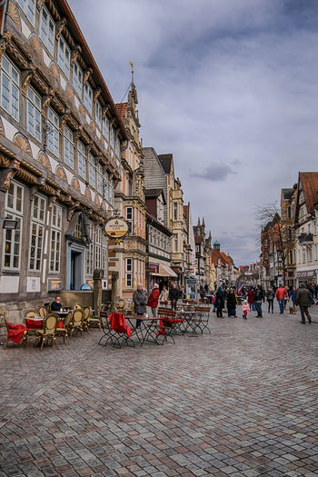 Town TOWNSCAPE People Enjoying Life Architecture_collection Europe Street Photography Houses Travel Destinations City Life Cityscape Germany Hameln Architecture Coffee Shop Togetherness Shopping ♡ Street Photography Perspective City History Sky Architecture Historic
